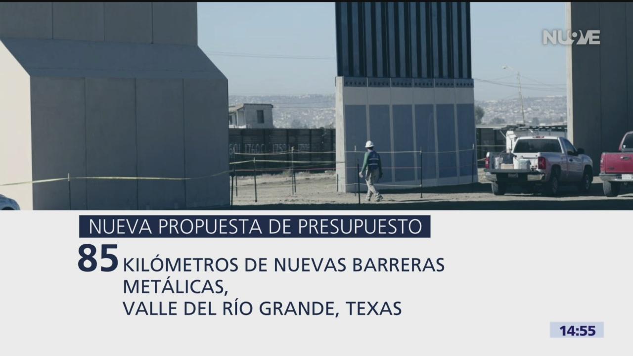 Foto: Nueva propuesta de presupuesto de EU incluye recursos para el muro