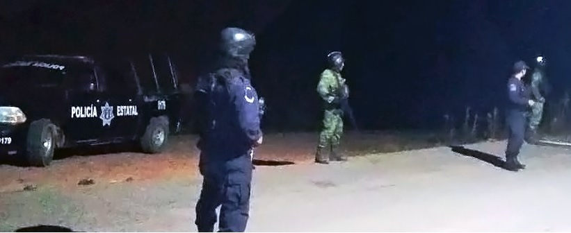 Foto: Operativo de seguridad en Guerrero, 15 de febrero 2019. Twitter @SSPGro