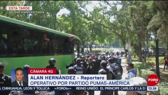 FOTO: Operativo de seguridad por partido América vs Pumas, 17 febrero 2019