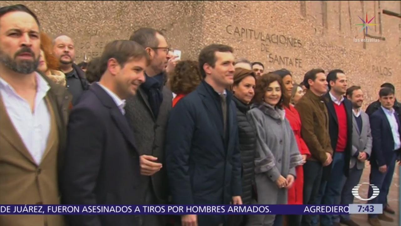 Partidos conservadores de España acusan a Pedro Sánchez de traición