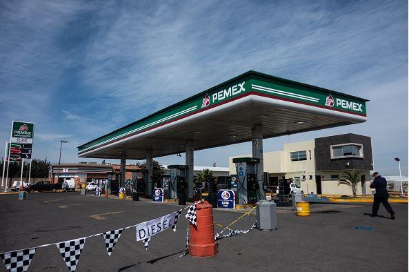 Foto: Una gasolinera de Pemex cerrada por desabasto de combustible en Jalisco, el 7 de enero de 2019.