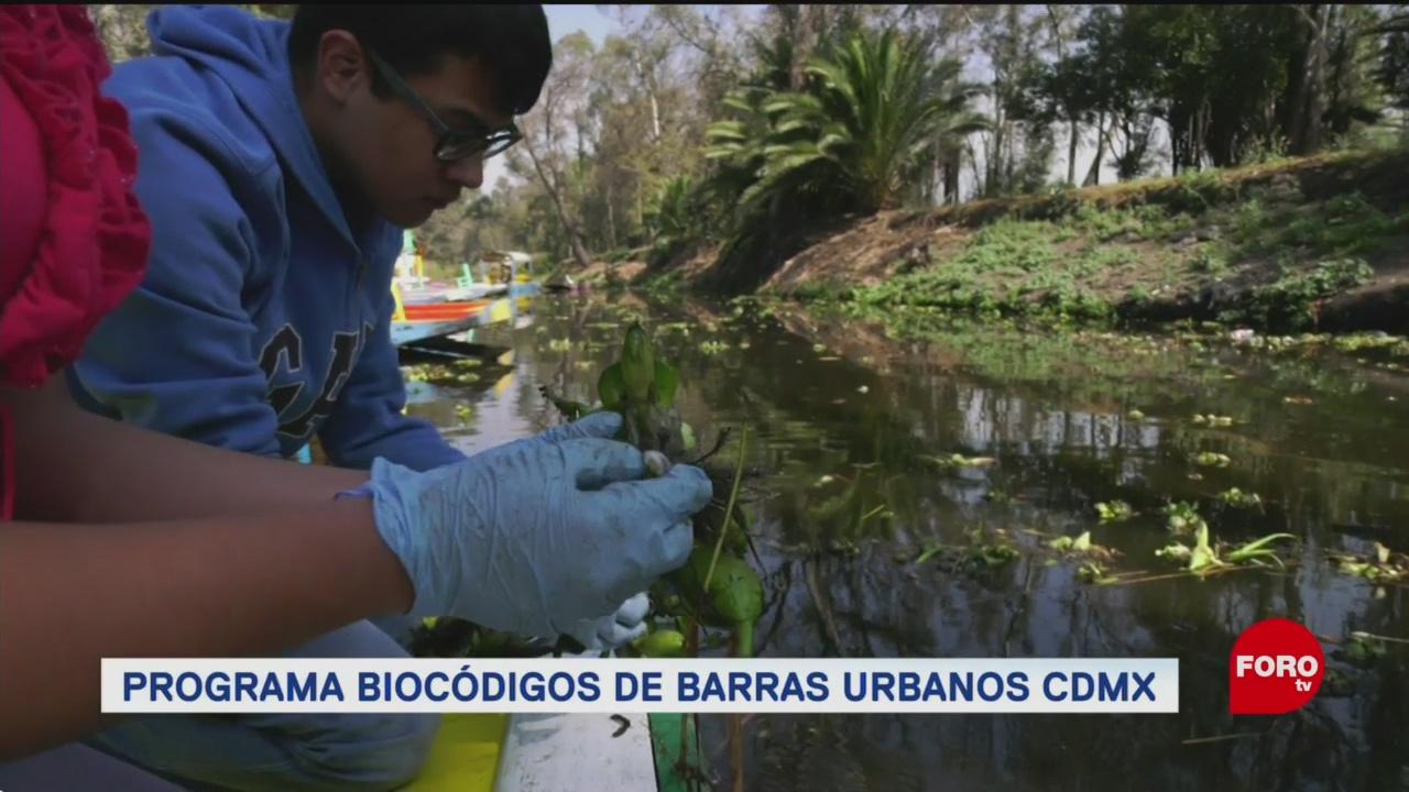 Programa biocódigos urbanos de barras CDMX