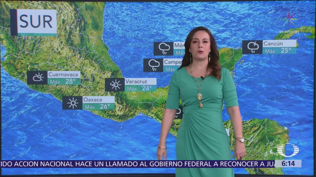 Foto: Pronostican lluvias en sureste de México y Península de Yucatán