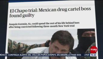 Foto: Reaccionan medios internacionales por veredicto de 'El Chapo'