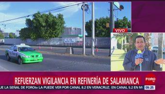 FOTO: Refuerzan vigilancia en refinería de Salamanca, Guanajuato, 2 febrero 2019