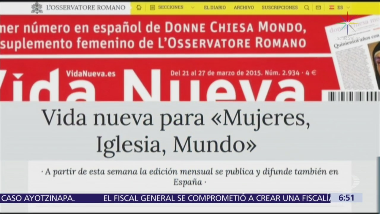 Revista femenina 'Mujeres Iglesia Mundo' denuncia abusos contra monjas