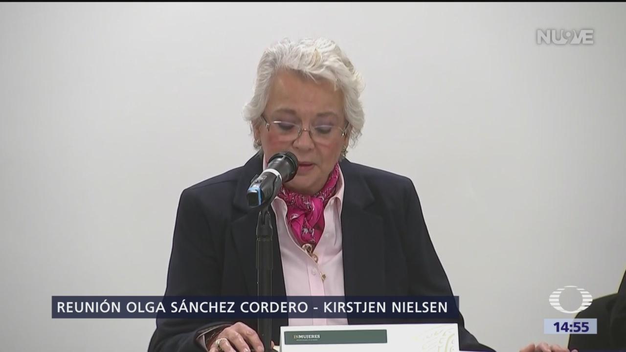 Foto: Sánchez Cordero abordará tema migratorio con Kirstjen Nielsen