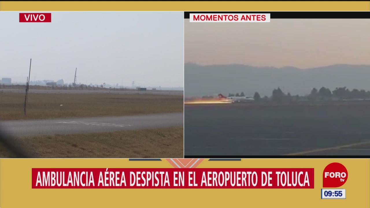 Sin lesionados por incidente aéreo en Toluca