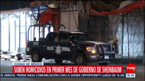 Foto:Suben Homicidios Primer Mes Gobierno Sheinbaum 13 Febrero 2019