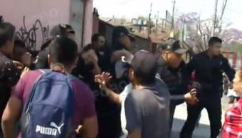 FOTO Vecinos desalojados en Iztacalco sorprenden y golpean ladrones FOROtv 24 febrero 2019 cdmx