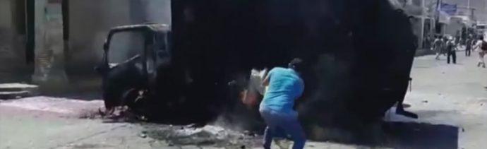 Foto: Enfrentamiento Trabajadores Tehuantepec Oaxaca Muerto 28 de Febrero 2019