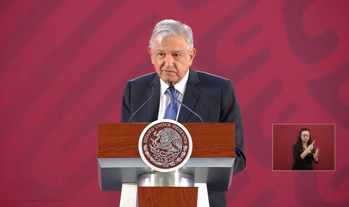 Foto: El presidente López Obraedor en conferencia de prensa desde Palacio Nacional, 21 de marzo de 2019, Ciudad de México