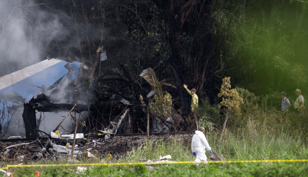Foto: Accidente aéreo en Cuba,18 de mayo de 2018, La Habana