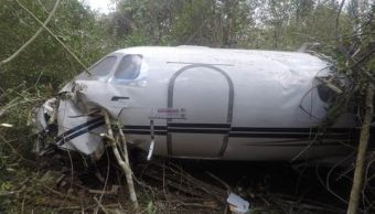 Foto: Aeronave accidentada en Q. Roo, 13 de marzo 2019. Sedena