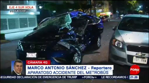 Foto: Accidente Metrobús Avenida Xola 6 de Marzo 2019