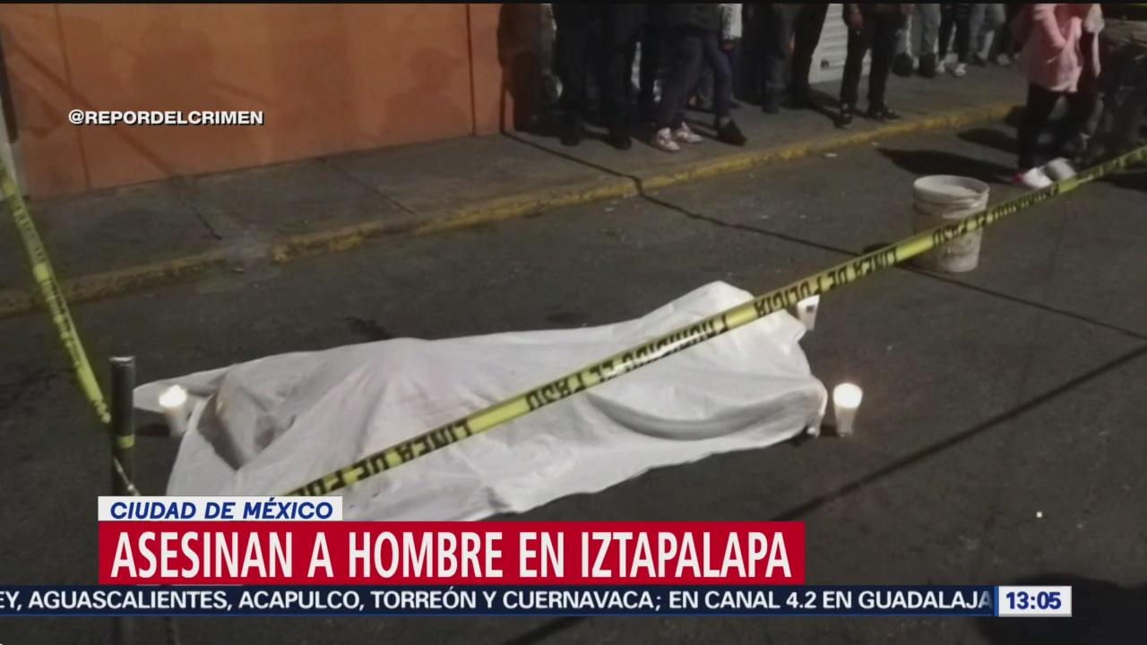 FOTO:Asesinan a un hombre en Iztapalapa, 24 Marzo 2019