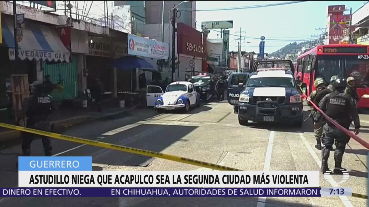 Astudillo niega que Acapulco sea la segunda ciudad más violenta
