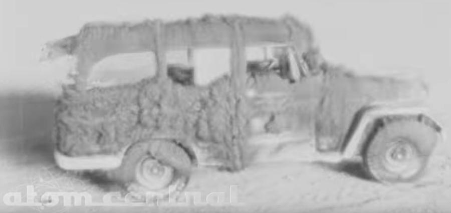 Foto Video restaurado muestran efectos de explosión nuclear en vehículos 11 marzo 2019