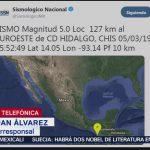Foto: Autoridades no reportan daños tras sismo de magnitud 5.0 en Chiapas