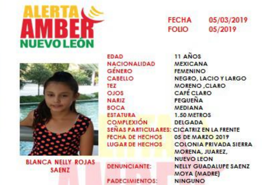 Foto Activan Alerta Amber: Niña desapareció en parada de camiones de Nuevo León 6 marzo 2019
