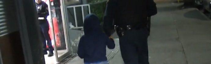 Foto: El niño Bruno fue abandonado en la lateral de Periférico. (Noticieros Televisa)
