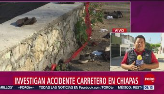 FOTO: Buscan a conductor del camión que cayó a barranco con migrantes, 9 marzo 2019