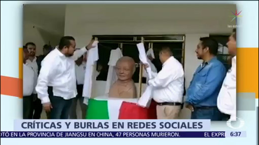 Busto de Benito Juárez en SLP desata burlas en redes sociales