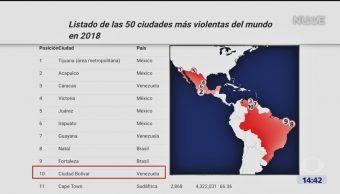 Foto: Cinco ciudades mexicanas, entre las más peligrosas del mundo