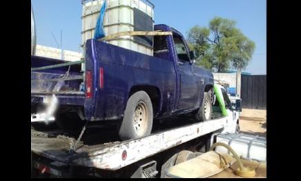 Foto: Combustible asegurado, 23 de marzo 2019. Facebook-Policía Federal de México
