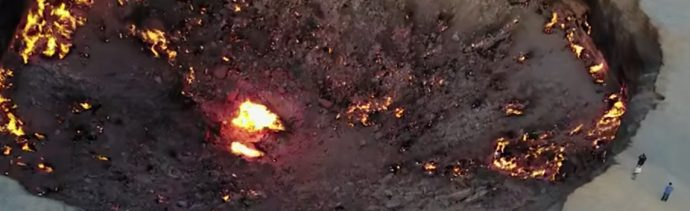 Puerta-infierno-Crater-Darvaza-Turkmenistan-Dron
