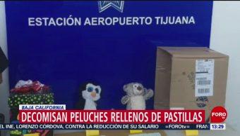 FOTO: Decomisan peluches rellenos de droga en Baja California,16 marzo 2019