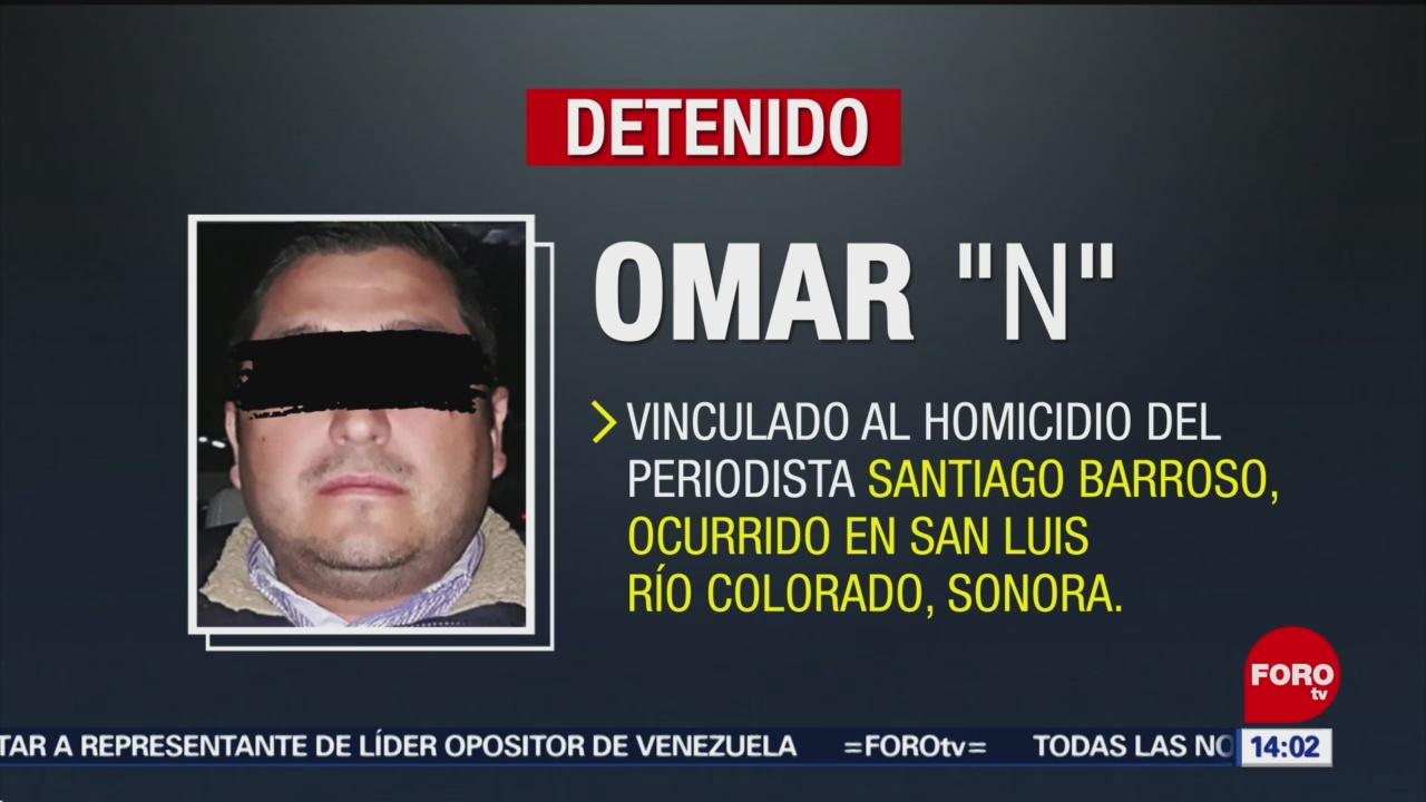FOTO:Detienen a presunto responsable del homicidio del periodista Santiago Barroso, 24 Marzo 2019