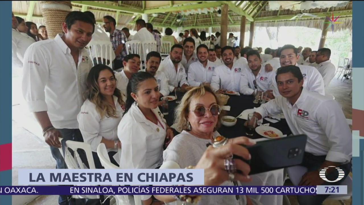 Foto: Elba Esther Gordillo reaparece en Chiapas, en comida de Redes Progresistas