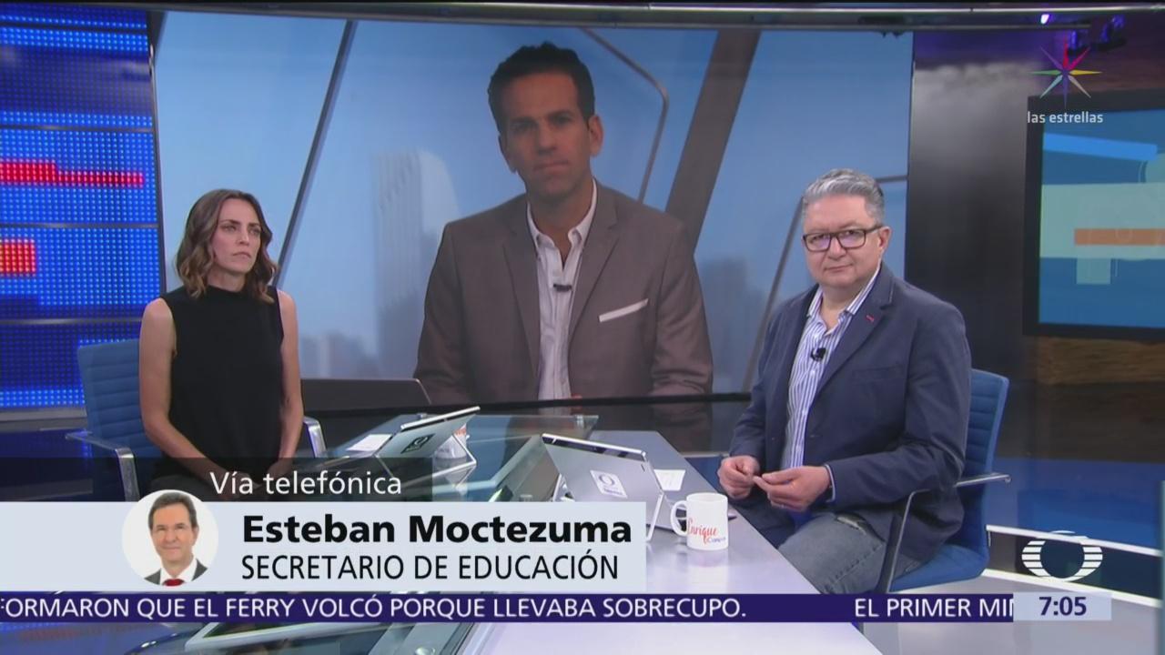 Esteban Moctezuma: Control de plazas de maestros lo tiene el Estado Mexicano