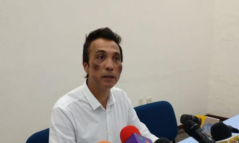 Foto: Efraín Angulo, exsecretario de Turismo de Colima, 7 de marzo 2019. Twitter @CiudadTV212