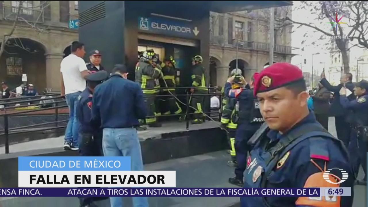 Falla elevador para personas discapacitadas en la estación del Metro Zócalo