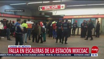 Foto: Falla en escaleras eléctricas en la estación Mixcoac deja varios lesionados