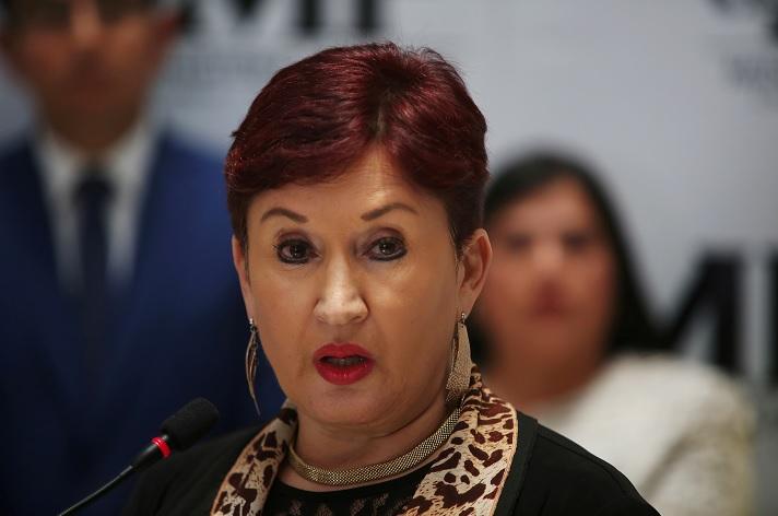 Foto: La fiscal general guatemalteca Thelma Aldana participa en una conferencia de prensa en la ciudad de Guatemala. El 28 de agosto de 2017