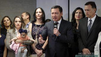 Foto: Legisladores anuncian Frente por la Niñez, 5 de marzo 2019. Twitter @osoriochong