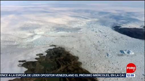Glaciar de Groenlandia que se derretía recupera extensión de hielo