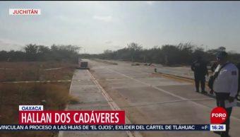 FOTO: Hallan dos cadáveres en Juchitán, Oaxaca, 16 marzo 2019