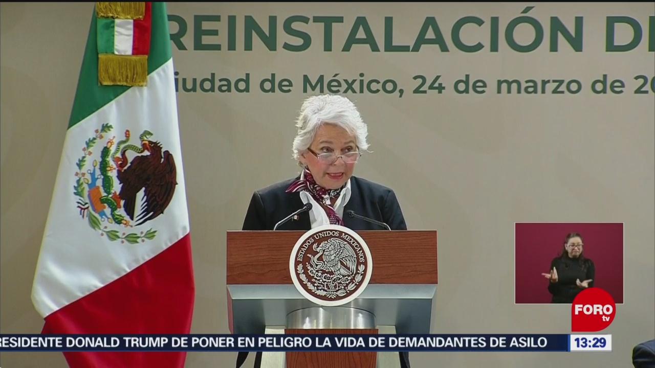 FOTO:Hay crisis en derechos humanos: Olga Sánchez Cordero, 24 Marzo 2019