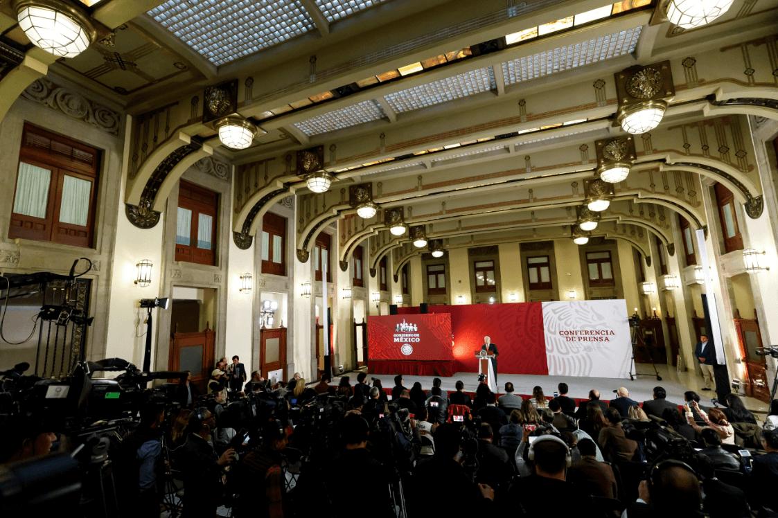 Foto: El presidente de México, Andrés Manuel López Obrador, durante conferencia de prensa en Palacio Nacional, 8 de marzo de 2019, México
