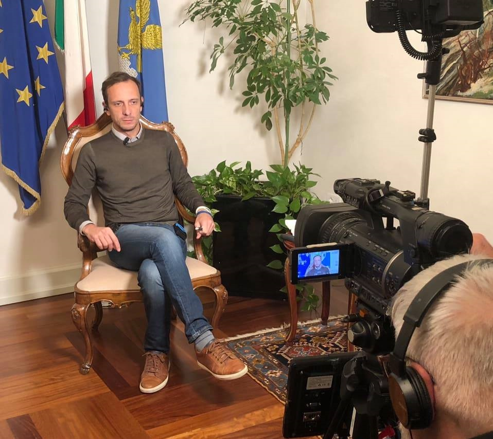 foto Massimiliano Fedriga politico italiano varicela