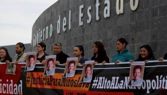 Foto: Periodistas y activistas conmemoran en Chihuahua y Ciudad Juárez dos años del asesinato de la reportera Miroslava Breach; exigen el esclarecimiento del caso, marzo 23 de 2019 (Cuartoscuro)