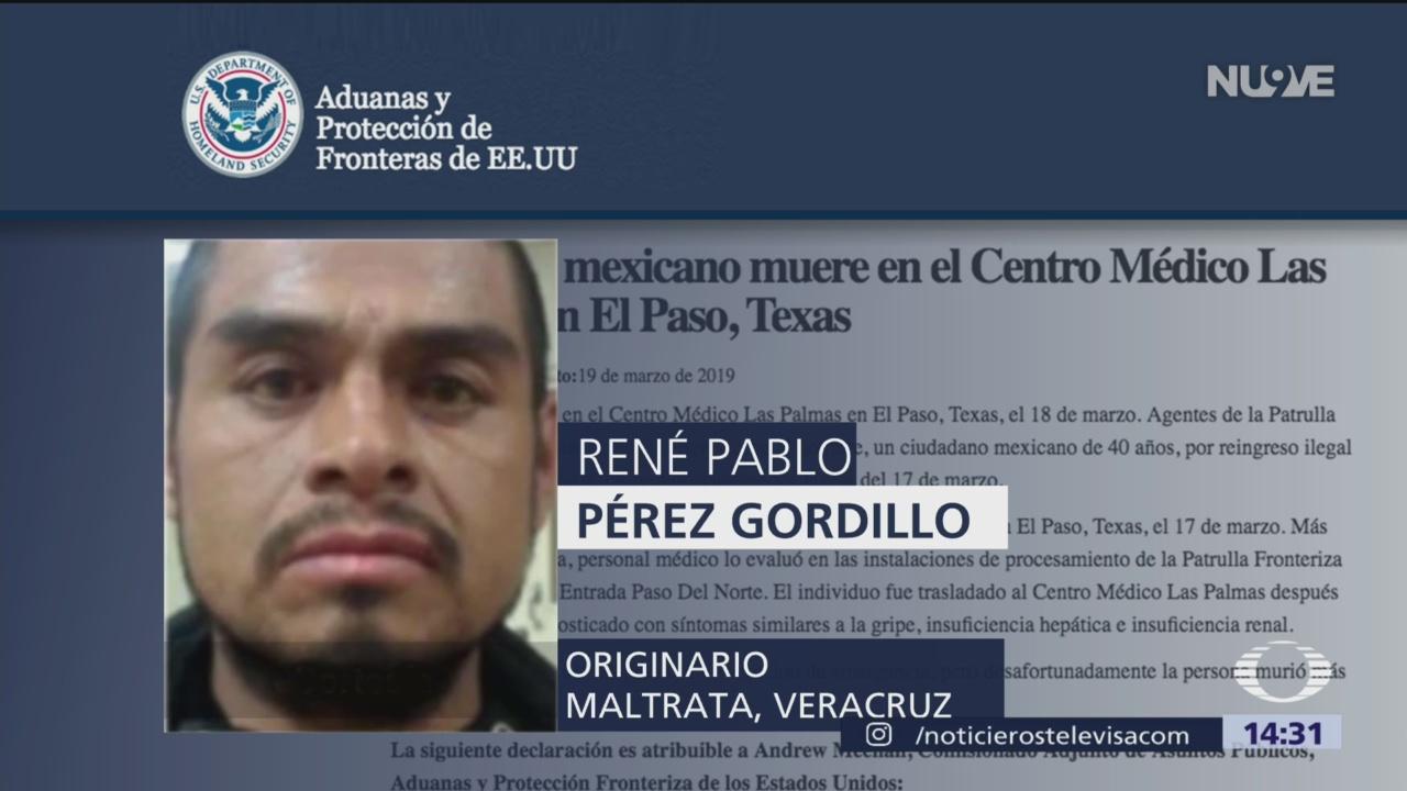 Foto: Muere mexicano bajo custodia de la Patrulla Fronteriza