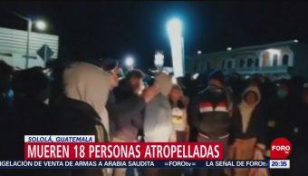 Foto: Mueren Personas Atropelladas Guatemala Accidente Trailer 28 de Marzo 2019