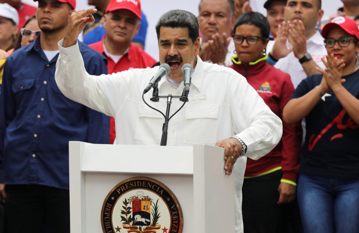 Foto: El presidente de Venezuela, Nicolás Maduro, habla durante un mitin en apoyo de su gobierno en Caracas, Venezuela, el 9 de marzo de 2019 (Reuters)