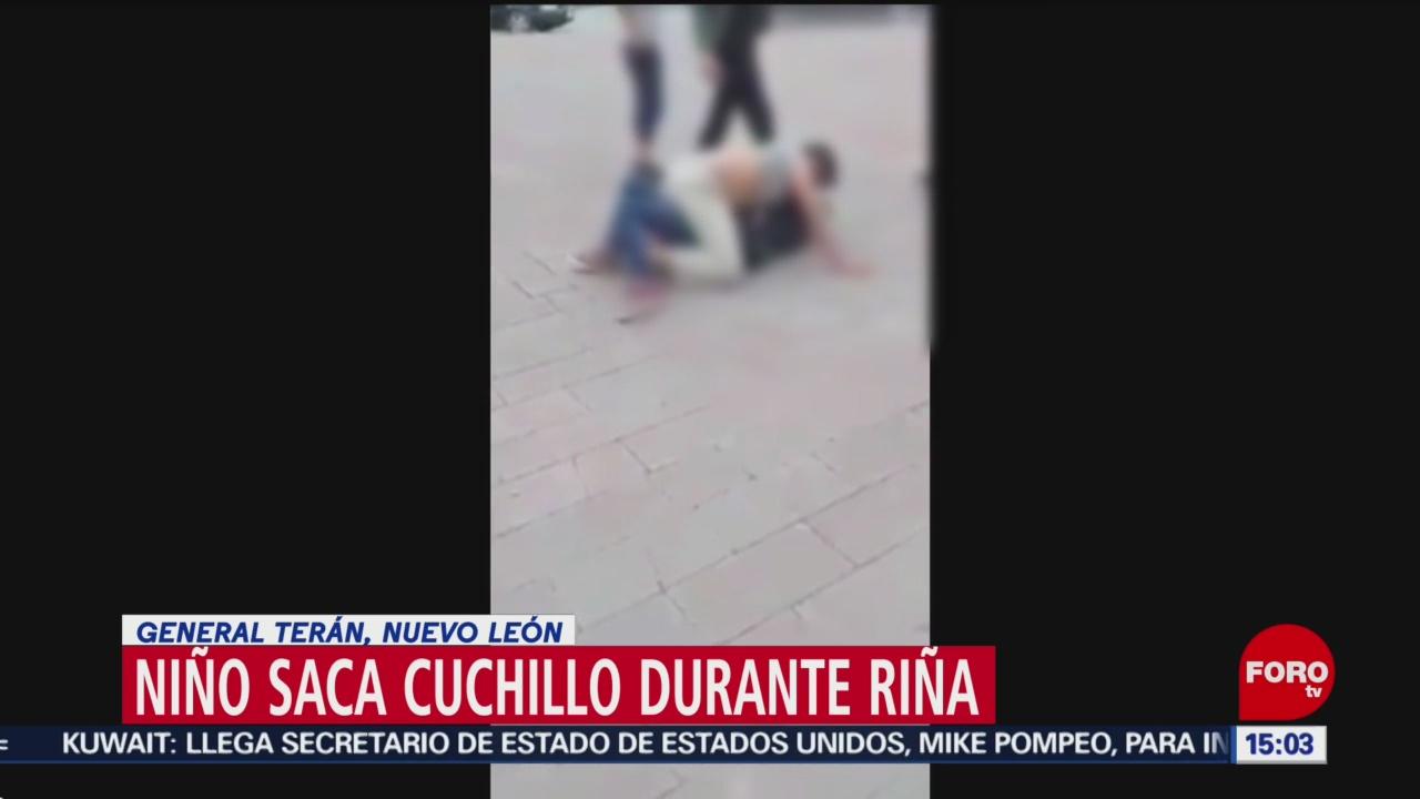 Foto: Niño intenta acuchillar a otros dos menores en NL