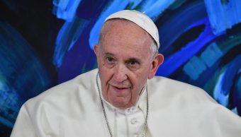 """Foto: El papa Francisco visita la sede de las """"Scholas Occurrentes"""" de las Fundación Pontificia para la Educación en Roma, 22 marzo 2019"""